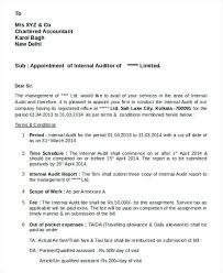Internal Audit Letter Internal Audit Letters Internal Audit Report