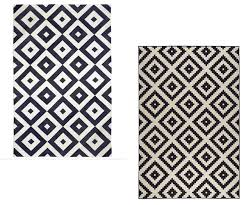 black and white geometric rug  cool ideas for to a room more
