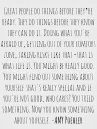 Risk Quotes Classy Maddie R On Pinterest Amy Poehler And Smart Girls
