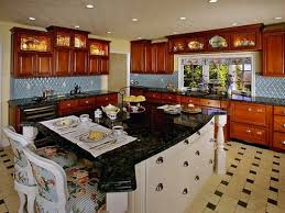 l shaped kitchens with islands. Simple Shaped Modern L Shaped Kitchen With Granite Island Top And Seating And Kitchens With Islands