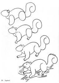 how to draw s squirrel