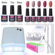 clavuz gel nail polish kits with uv