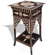 cheap moroccan furniture. Handcarved And Inlaid Syrian Table With Mother Of Pearl. Ideal For A Moroccan Or Middle Eastern Decor. Cheap Furniture L