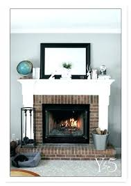 white brick fireplace ideas s with reclaimed wood mantel