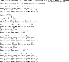Help Lyrics Love Lyrics For Cant Help Falling In Love With You
