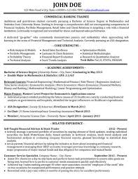 Banking And Finance Resume Samples