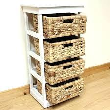 wicker storage drawer wicker storage drawers bathroom bathroom furnishing design ideas using narrow 4 tier white wicker storage