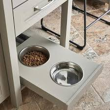 slide out dog bowl design ideas