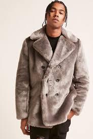 faux fur double ted coat