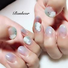 夏浴衣デート女子会ハンド Bonheurのネイルデザインno3341611