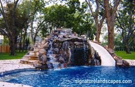 Impressive Pool Designs With Slides And Waterfalls Swimming Surprising Used Inground To Creativity Design