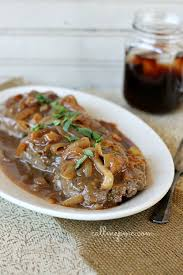 hamburger steak with onions and brown