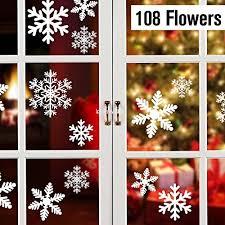 108 Schneeflocken Fensterdeko Fensterbilder Für Weihnachts