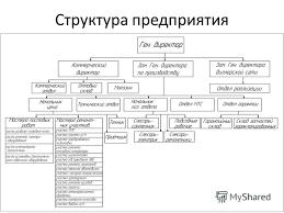 Презентация на тему Отчёт по производственной практике Для  4 Структура предприятия