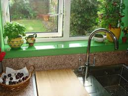 Kitchen Window Sill Glass Splash Backs For Kitchens And Bathrooms Cannadines