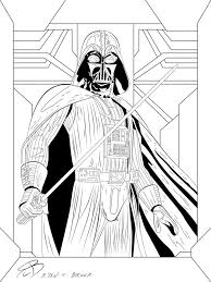 Small Picture Coloring Pages Darth Vader by RCBrock on DeviantArt LineArt