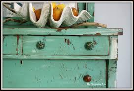 The Turquoise Iris Furniture & Art Mint Green Antique Dresser