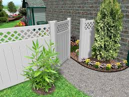 Painted Fences fascinating home garden design with green grass field and white 3104 by xevi.us