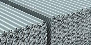 Asbestos Sheet Roof Design Stock Illustration