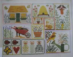 Spring Garden Sampler Cross Stitch Chart