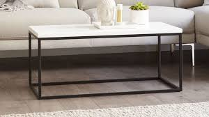 large matt white coffee table
