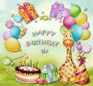 Поздравления на английском с днем рождения открытки