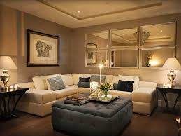 image of living room wall mirrors decor