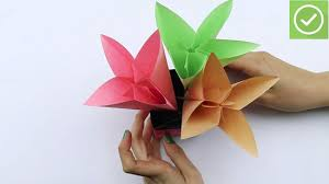 How To Make Paper Flower Bouquet Step By Step How To Make A Paper Flower Bouquet With Pictures Wikihow
