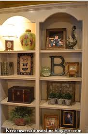 How to decorate shelves: this blog is THE BEST!!!! @ Do
