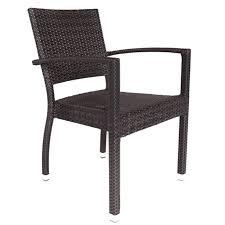 rattan garden stacking arm chair
