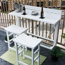 outdoor furniture small balcony. outdoor dining set balcony bar table stools patio 3 piece stool furniture new small