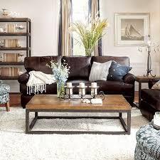 dark brown leather couch decor ideas