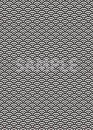 白黒の青海波柄a4サイズ背景素材 無料商用可能a4サイズ 背景