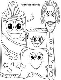 Small Picture Tooth Brushing Himself at Dentist Coloring Pages Optimal Dental