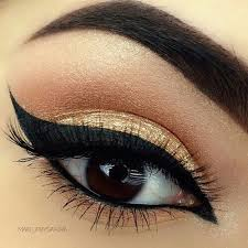 eyebrows gold and makeup image