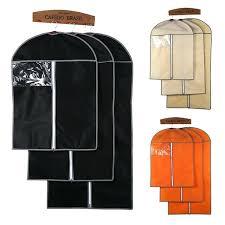 clothes storage bags zipper high quality garment clothes bag coat dresses suit wardrobe storage bag protector clothes