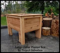 raised cedar planter box. Custom Made Raised Cedar Planter Box To CustomMadecom