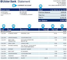 Bank Statements Unique Online Statement Explained Help And Support Ulster Bank