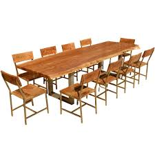 dining table 10 chairs. live edge dining table \u0026 10 chairs o