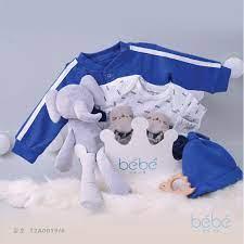 Bộ quà tặng cao cấp cho bé trai sơ sinh màu xanh Bé Bé 12A019/6
