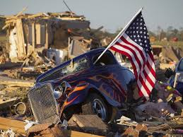 american flag hot rod car tornado destruction