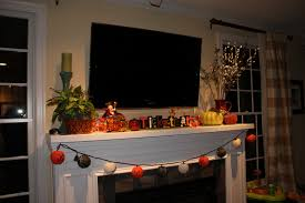 Divine Images Of Halloween Mantel Decoration For Your Inspiration :  Beautiful Image Of Fireplace Decoration Using ...