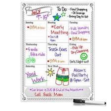 Smart Planners Weekly Magnetic Refrigerator Calendar Dry Erase Board