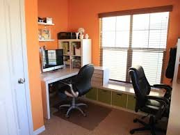 small office in bedroom. Office Bedroom Wall Designs With Orange Small In O