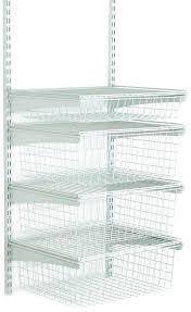 closetmaid shelf track 4 drawer kit white kitchen cabinet shelf system brackets closetmaid shelftrack 12 standard