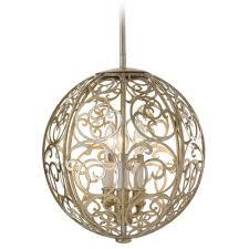 oriental lighting. Pendant Light In Silver Leaf Patina Finish Oriental Lighting P