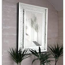 crystal framed mirror rectangular floating crystals beveled panel framed wall mirror glass framed crystal mirror 60 x 80cm