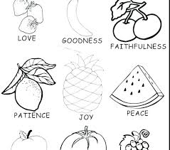 Joy Coloring Page Fruit Spirit Pages Free Printable Inside Out Of