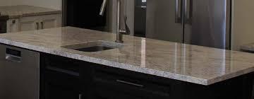 ivory granite countertop with straight edge profile