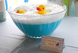 Rubber Ducky PunchBlue Punch For Baby Boy Shower